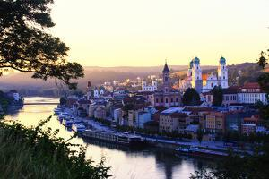 View over the Danube from the Veste Oberhaus, a Fortress on the Wooded Heights Above Passau by Roff Smith