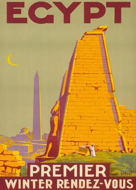 Egypt, Premier Winter Rendez-Vous c.1930s by Roger Bréval