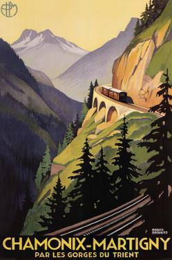 Roger Broders Chamonix Martigny Vintage Ad Art Print Poster