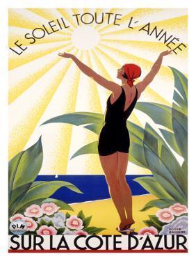 Cote d'Azur, Le Soleil Toute l'Annee by Roger Broders