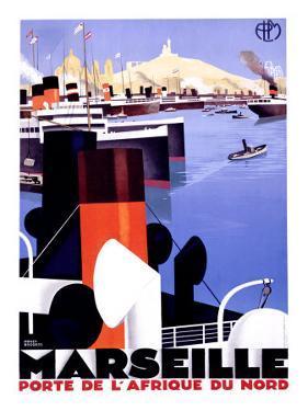 Marseille, Porte de l'Afrique by Roger Broders