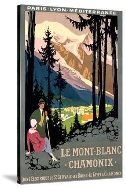Mt Blanc Chamonix Hiking Poster by Roger Broders