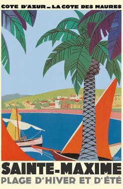 Saint Maxime France - Cote D'Azur French Riveria by Roger Broders