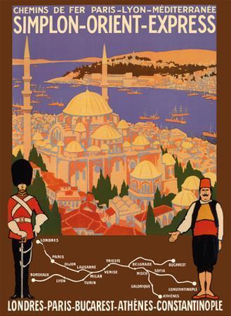 Simplon Orient-Express - London to Constantinople - Paris-Lyon-M?terran?Railway (PLM) by Roger Broders