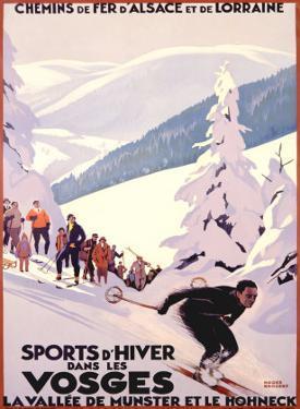 Sports d'Hiver dans les Vosges by Roger Broders
