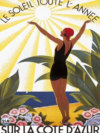 Sur la Cote d'azur by Roger Broders