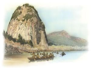 Five Canoes of Corpsmen on the Columbia River by Roger Cooke
