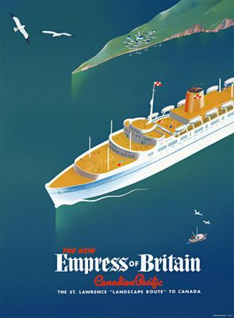 Canadian Pacific / Empress of Britain by Roger Couillard