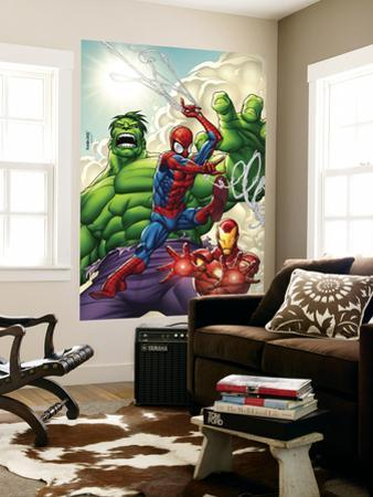 Marvel Adventures Super Heroes No.1 Cover: Spider-Man, Iron Man and Hulk by Roger Cruz