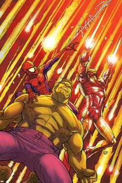 Marvel Adventures Super Heroes No.2 Cover: Hulk, Spider-Man and Iron Man by Roger Cruz