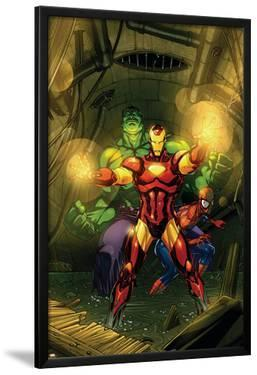 Marvel Adventures Super Heroes No.4 Cover: Iron Man, Hulk and Spider-Man by Roger Cruz