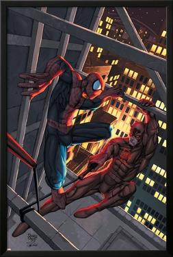 Marvel Age Spider-Man No.15 Cover: Spider-Man and Daredevil by Roger Cruz