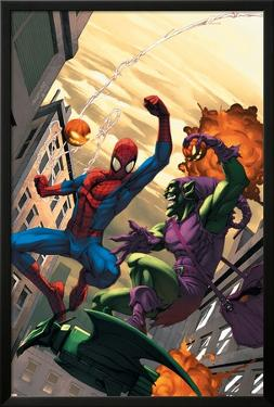 Marvel Age Spider-Man No.16 Cover: Spider-Man and Green Goblin by Roger Cruz