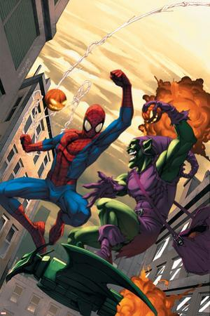 Marvel Age Spider-Man No.16 Cover: Spider-Man and Green Goblin