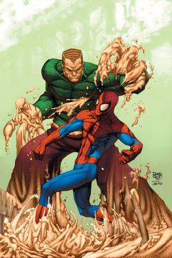 Marvel Age Spider-Man No.17 Cover: Spider-Man and Sandman by Roger Cruz