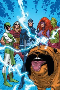 Uncanny X-Men: First Class No.1 Group: Black Bolt, Medusa, Lockjaw, Karnak, Gorgon and Triton by Roger Cruz