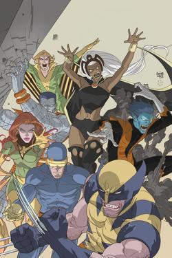 Uncanny X-Men: First Class No.4 Cover: Wolverine, Cyclops, Phoenix, Storm and Nightcrawler by Roger Cruz