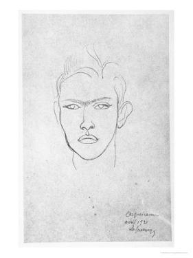 Raymond Radiguet, 1921 by Roger de La Fresnaye