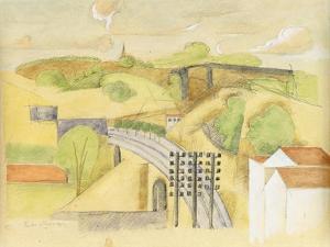 Study for the Meulan Viaduct; Etude Pour Le Viaduc de Meulan, 1912 by Roger de La Fresnaye