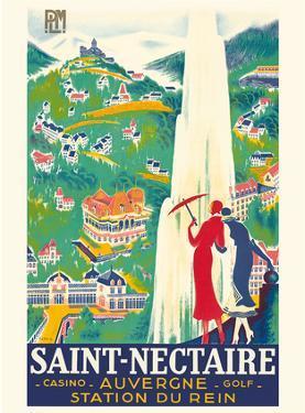 Saint-Nectaire - Auvergne, France - Casino, Golf - Station du Rein - PLM French Railroad by Roger De Valerio