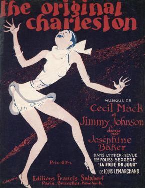 The Original Charleston, as Danced by Josephine Baker at the Folies-Bergere Paris by Roger de Valerio