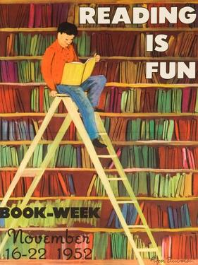 Reading Is Fun Poster by Roger Duvoisin