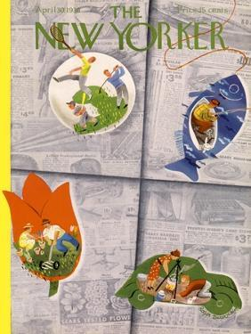 The New Yorker Cover - April 30, 1938 by Roger Duvoisin