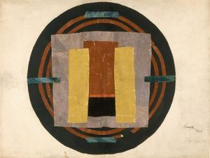 Circular Design for a Rug, 1916 (W/C and Collage on Paper) by Roger Eliot Fry