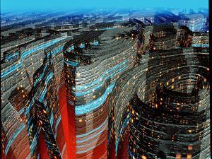 Futuristic City by Roger Harris