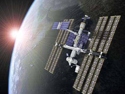 International Space Station by Roger Harris