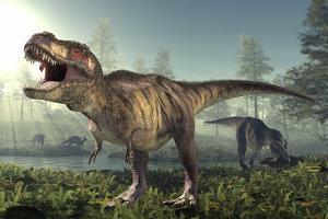 Tyrannosaurus Rex Dinosaur by Roger Harris