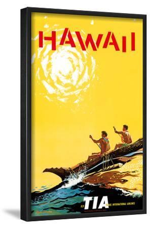 Hawaii - Fly TIA (Trans International Airlines) - Hawaiian Outrigger Canoe (Wa'a)