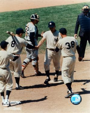Roger Maris - # 6 Shaking hands at homeplate