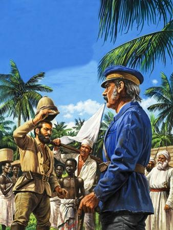 Henry Stanley Greets David Livingstone by Roger Payne
