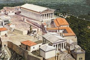 The Acropolis and Parthenon by Roger Payne
