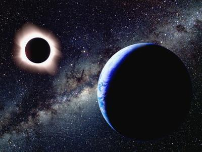 Earth and Total Eclipse Seen from Space by Roger Ressmeyer