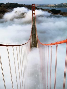 Golden Gate Bridge Wrapped in Fog by Roger Ressmeyer