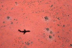 Jet Shadow on a Desert by Roger Ressmeyer