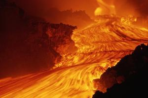 Lava Flowing from Mount Etna by Roger Ressmeyer