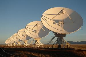 Radio Telescope Array in Low Sunlight by Roger Ressmeyer