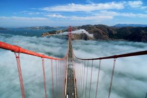 Road Deck of the Golden Gate Bridge by Roger Ressmeyer