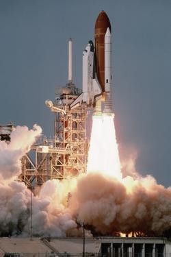 Space Shuttle Columbia Launching on Sts-9 by Roger Ressmeyer