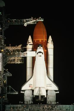 Space Shuttle Discovery on the Launch Pad by Roger Ressmeyer
