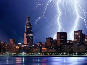 Thunderstorm over Chicago by Roger Ressmeyer