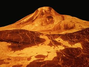 Volcano Erupting on the Surface of Venus by Roger Ressmeyer