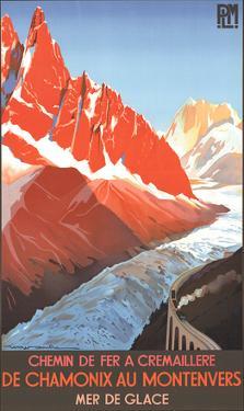 Chamonix au Montenvers by Roger Soubie