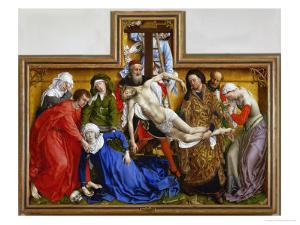 Deposition, circa 1436 by Rogier van der Weyden