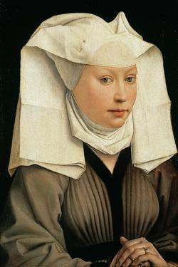 Portrait of a Woman with a Winged Bonnet, C. 1440 by Rogier van der Weyden