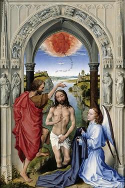 The Baptism of Christ (The Altar of St. John, Middle Pane), Ca 1455 by Rogier van der Weyden