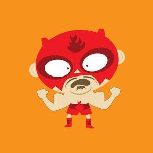 Rojo Flexing His Muscles